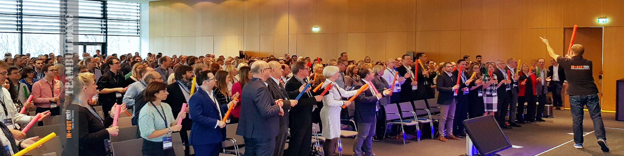 Ideen für Team Events - Bommwhacker Incentive - Lufthansa 550 Teilnehmer - Frankfurt