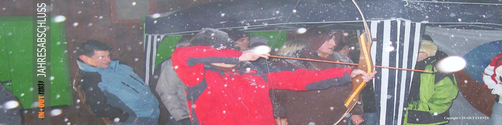 Weihnachtsfeier Bogenschiessen